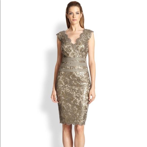 Tadashi Shoji Dresses & Skirts - Tadashi Shoji gold sequin woman's dress size 12